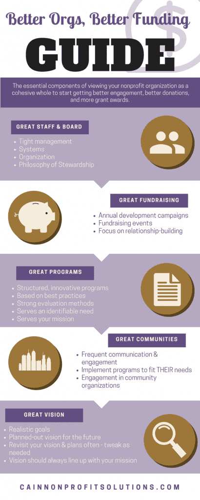 CNPS Better Orgs, Better Funding Infographic