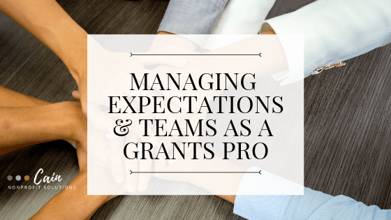 CNPS - Managing Expectations & Teams as a Grants Pro BLOG IMAGE